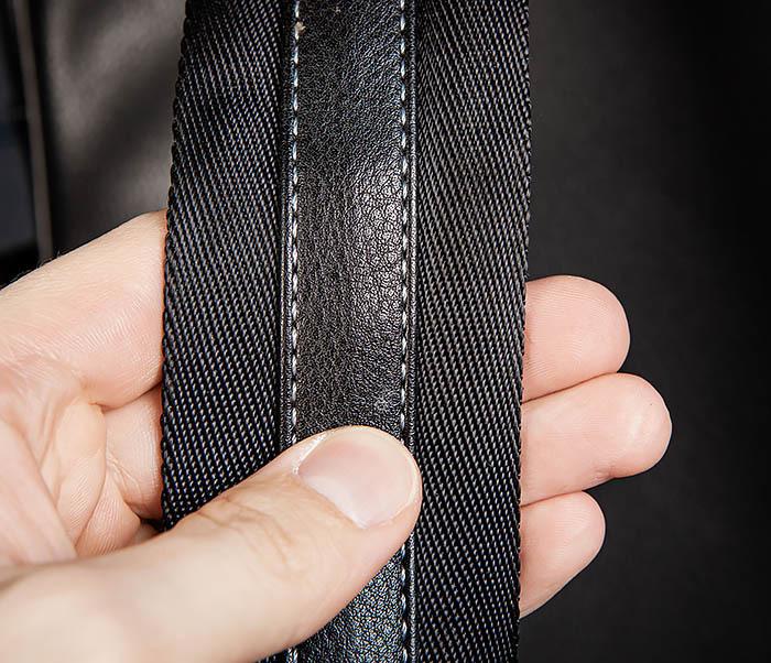 BAG523-1 Мужской рюкзак из гладкой черной кожи фото 08