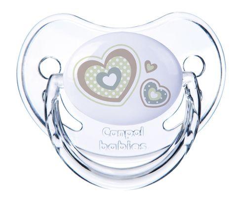 Canpol. Пустышка Newborn baby симметричная силикон, 0-6 мес., белый