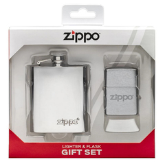 Подарочный набор: фляжка 89 мл и зажигалка «Zippo», фото 1