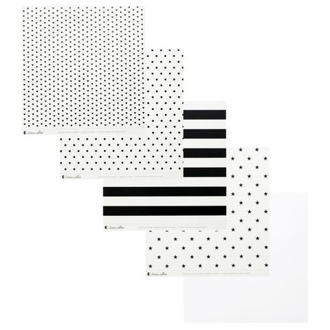 Набор ацетатной пленки - 30х30см - Teresa Collins Paper Collection-Clear With Black- 12л