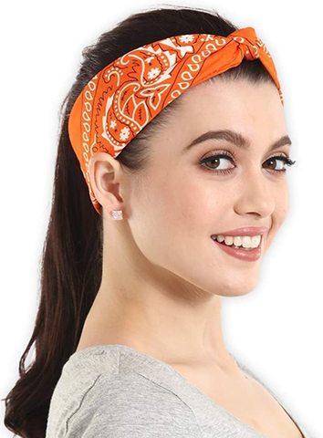 Оранжевая бандана женская фото