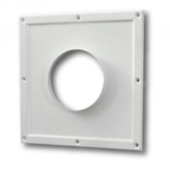 Торцевая площадка стальная 295х295/ф125 без решетки, с полимерным покрытием эмалью