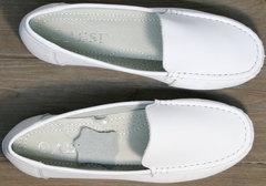 Купить белые мокасины женские AESD 902 White