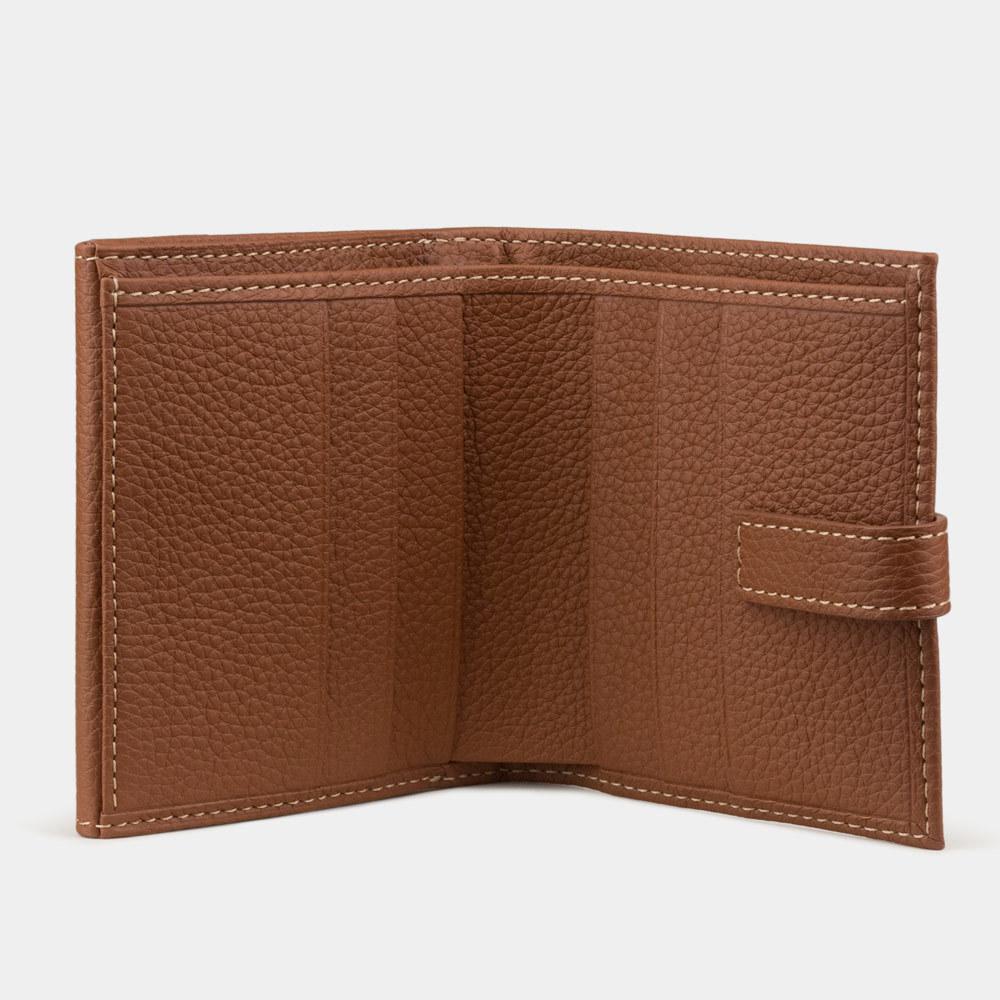 Мини-кошелек Tresor Easy из натуральной кожи теленка, цвета карамель