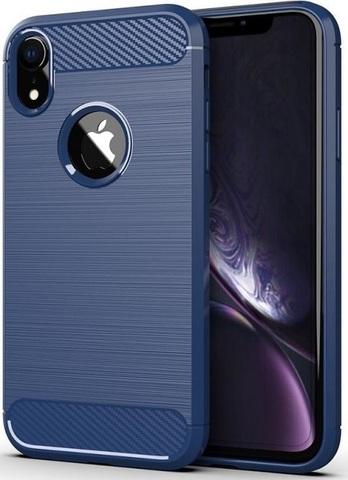 Чехол для iPhone XR цвет Blue (синий), серия Carbon от Caseport