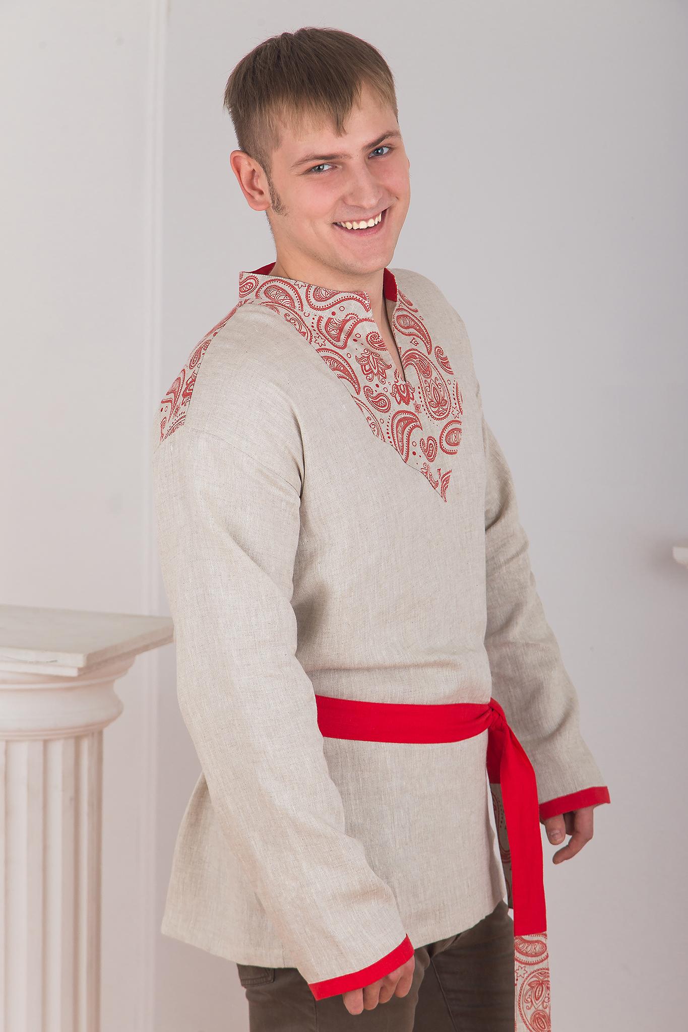Мужская обережная рубаха Княжич