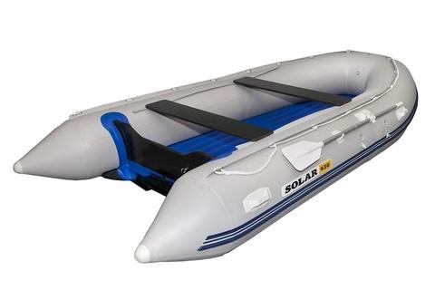 Надувная ПВХ-лодка Солар - 420 Jet Tunnel (светло-серый)