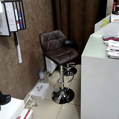 Сиденье для барного стула Диамонд/Diamond, экокожа, темно коричневое (сидение)