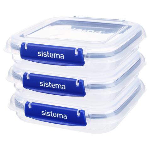 "Набор контейнеров для сэндвичей Sistema ""KLIP IT+"" 520мл, 3шт."