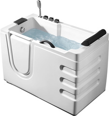 Акриловая ванна ABBER AB9000 C L 130х70 см с дверцей
