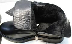 Модные осенние ботинки кожаные на байке женские Misss Roy 252-01 Black Leather.