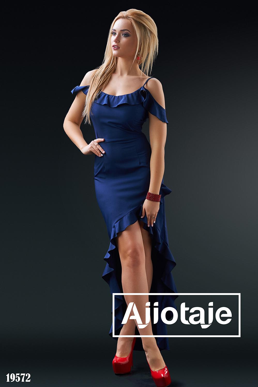 Темно-синее платье в испанских мотивах