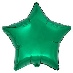 Воздушный шар Звезда 44см (Зеленая)