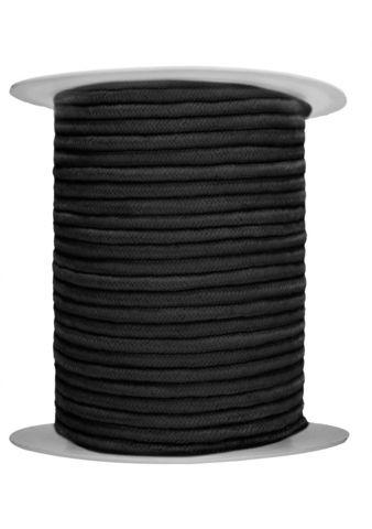 Черная веревка для связывания Bondage Rope - 100 м.