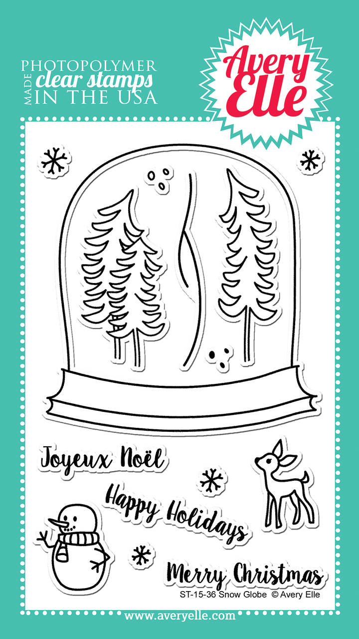 Комплект силиконовых штампов Snow Globe от Avery Elle