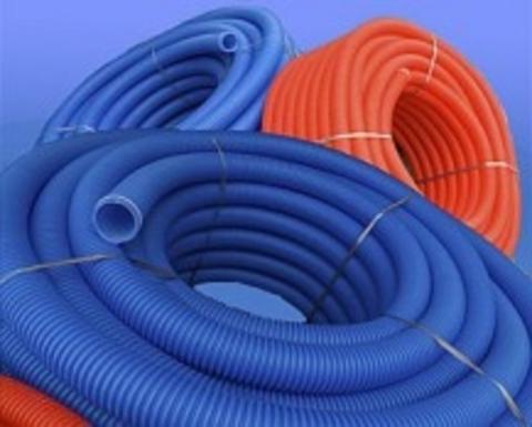 Труба гофрированная D25 (35/29) синий 50 м - Контур