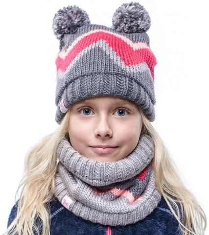 Комплект детский шапка-шарф Buff Arild Grey фото 1