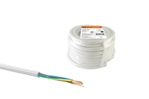 Провод ПВС 5х0,75 ГОСТ (20м), белый TDM