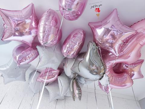 Розовые шары под потолок