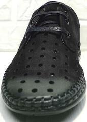 Модные туфли мокасины мужские черные смарт кэжуал Luciano Bellini 91754-S-315 All Black.