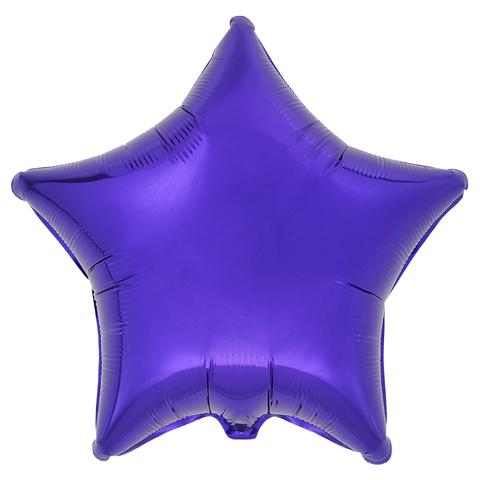 Воздушный шар Звезда 44см (Фиолетовая)