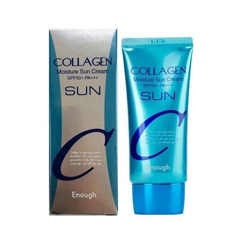 Увлажняющий солнцезащитный крем с коллагеном и гиалуроновой кислотой Enough Collagen Moisture Sun Cream