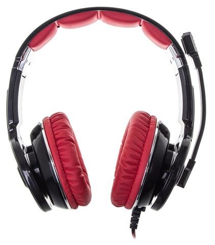 Наушники с микрофоном Оклик HS-L350G RED WAR черный 2.2м мониторные оголовье (HS-L350G)