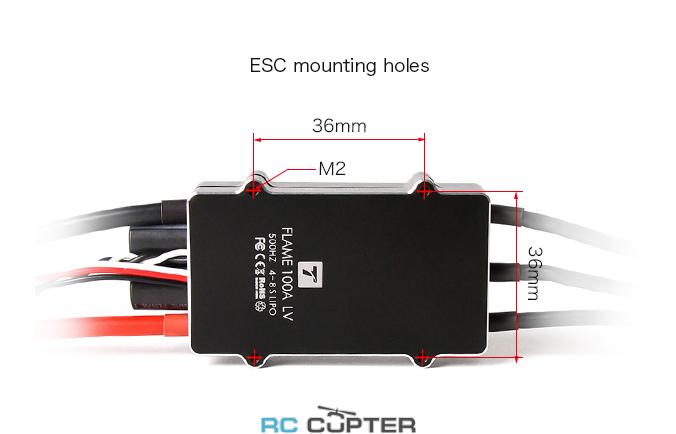 Отверстия для крепления  ESC регулятор мотора T-Motor 100A Flame LV