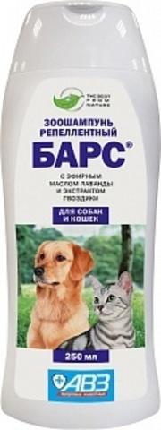 Барс зоошампунь репеллентный для собак и кошек 250 мл