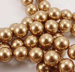 5810 Хрустальный жемчуг Сваровски Crystal Bright Gold круглый 12 мм