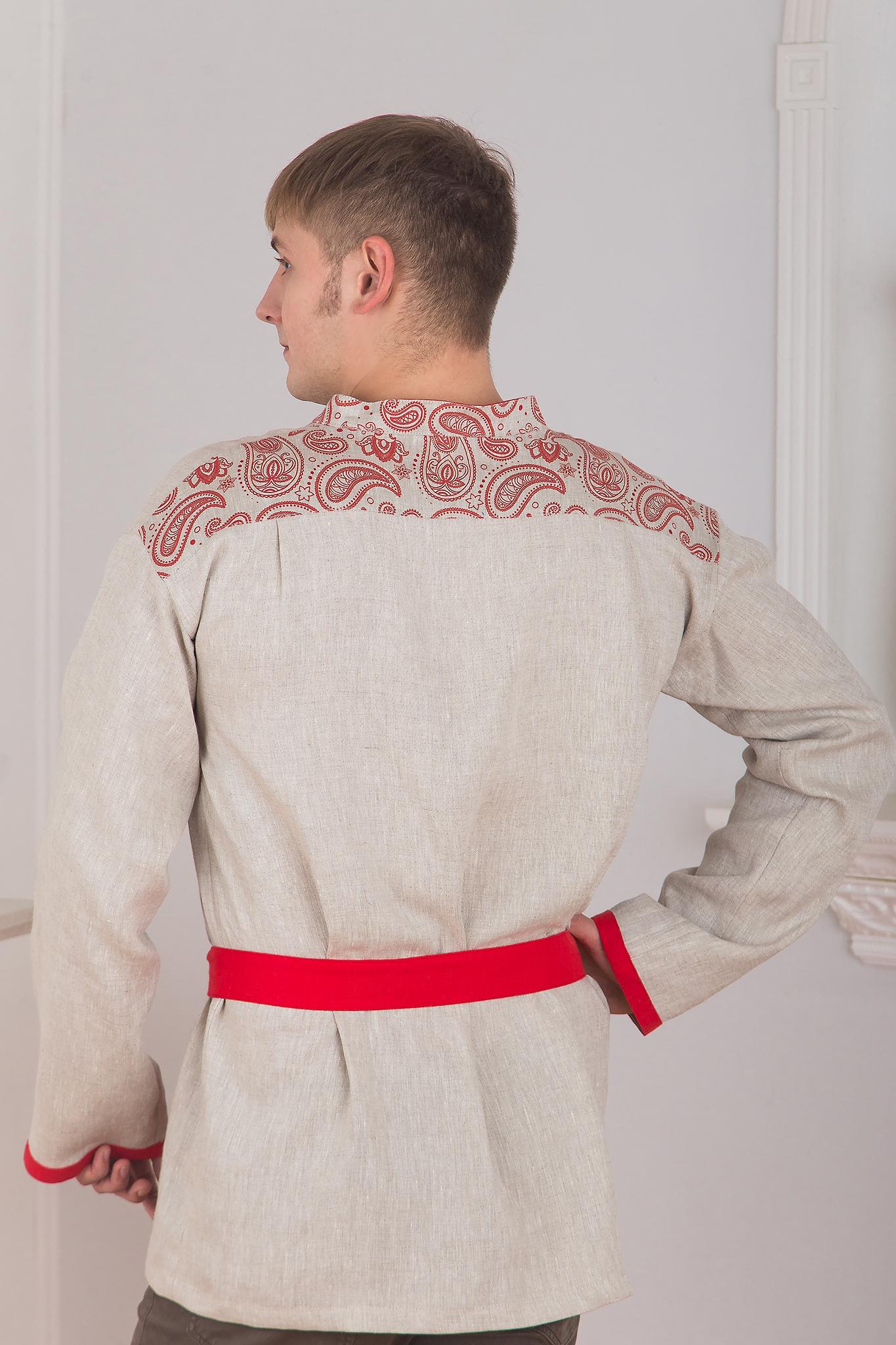 Льняная мужская рубаха из льна