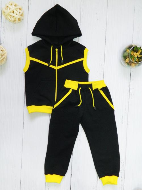 Костюм 3094, черно-желтый