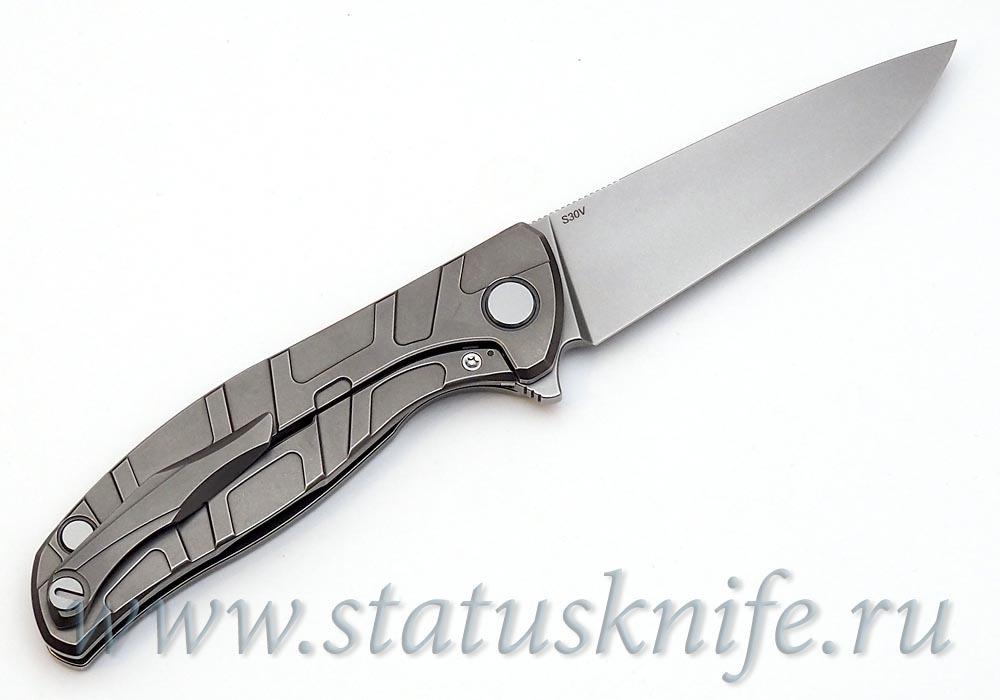 Нож Широгоров Flipper 95 S30V Т узор подшипники - фотография
