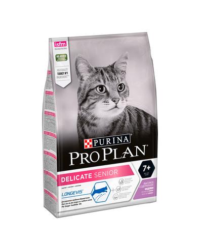 Pro Plan сухой корм для кошек с чувствительным пищеварением старше 7лет (индейка) 3кг