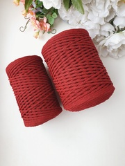 Бордо  Хлопковый шнур 3 мм
