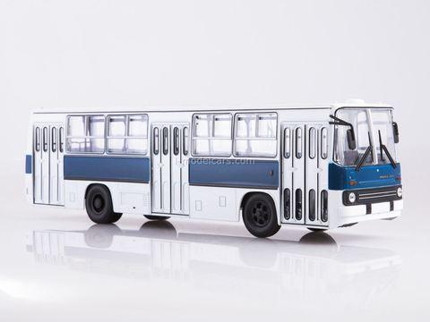 Ikarus-260 white-blue Soviet Bus (SOVA) 1:43