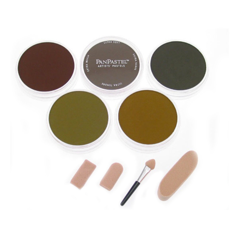 Набор ультрамягкой пастели PanPastel Ultra Soft Artist Pastel Set 9мл/ 5 шт- Extra Dark Shades - Earthtones