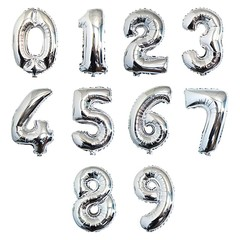 Шары цифры серебро