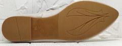Балетки кожаные женские туфли на плоской подошве Wollen G036-1-1545-297 Vision.