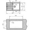 Мойка кухонная TEKA Lux 1B 1D 86 - схема