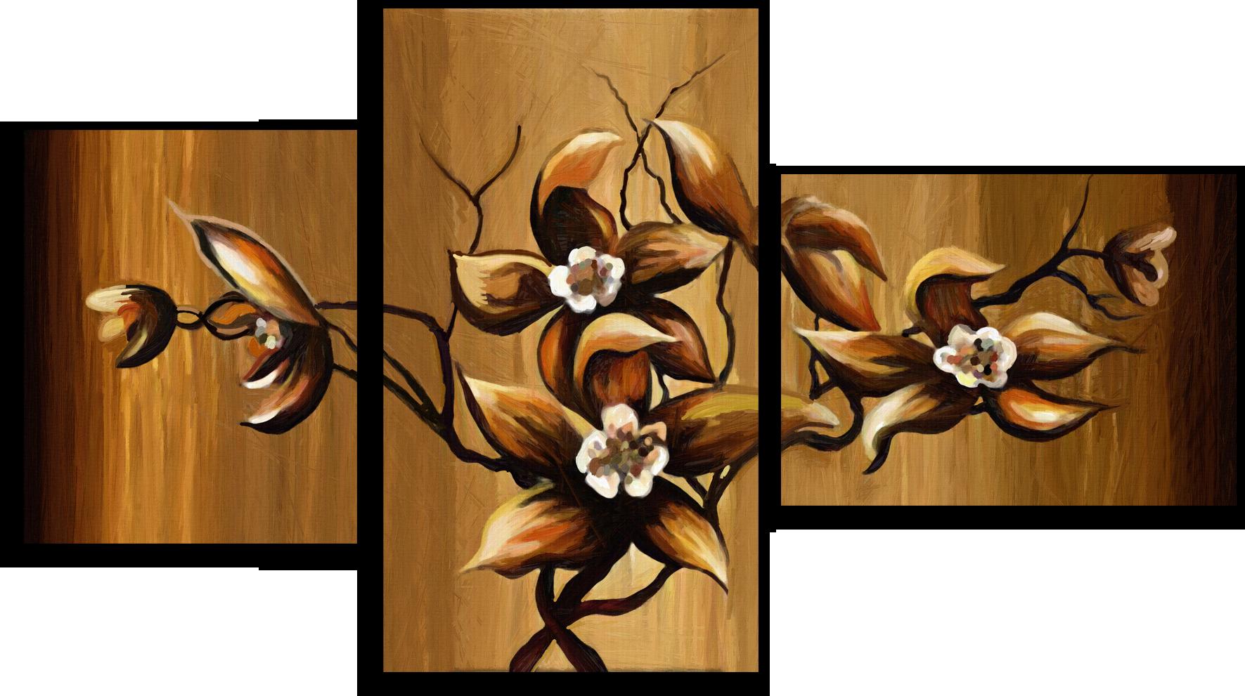 """Модульные картины Модульная картина """"Четыре цветка"""" М79.png"""