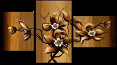 """Модульная картина """"Четыре цветка"""""""