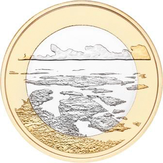 "5 евро Финляндия ""Архипелаговое море"" 2018 год"