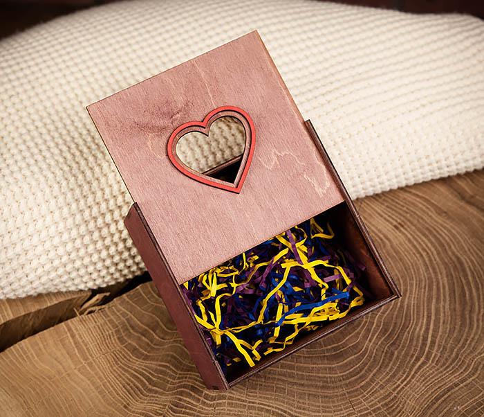 BOX210-3 Подарочная коробка с ручками фиолетового цвета (17*17*10 см) фото 05