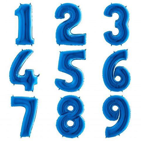 Синие цифры 102 см с гелием
