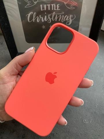 Чехол Iphone 12 pro Max Silicone case original quality /pink citrus/