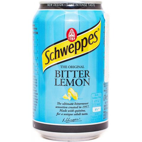 Schweppes Bitter Lemon Швепс горький лимон 0,33 л
