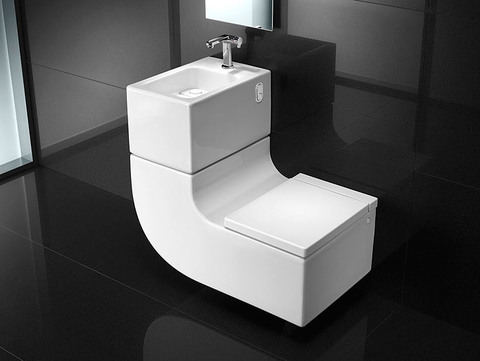 Унитаз с раковиной Roca W+w  (Washbasin+Watercloset)