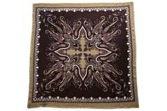 Шерстяной женский коричневый платок (0079 PLATOK 8)