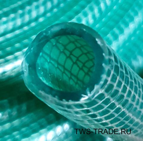 Шланг Ø 19мм армированный усиленный (вязаный) прозрачный силиконовый толщина стенки 4 мм (50 м в бухте)